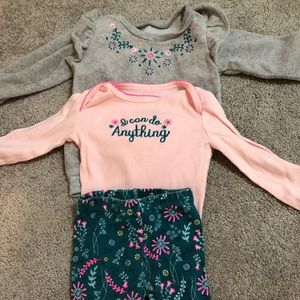Three piece outfit 12m girls